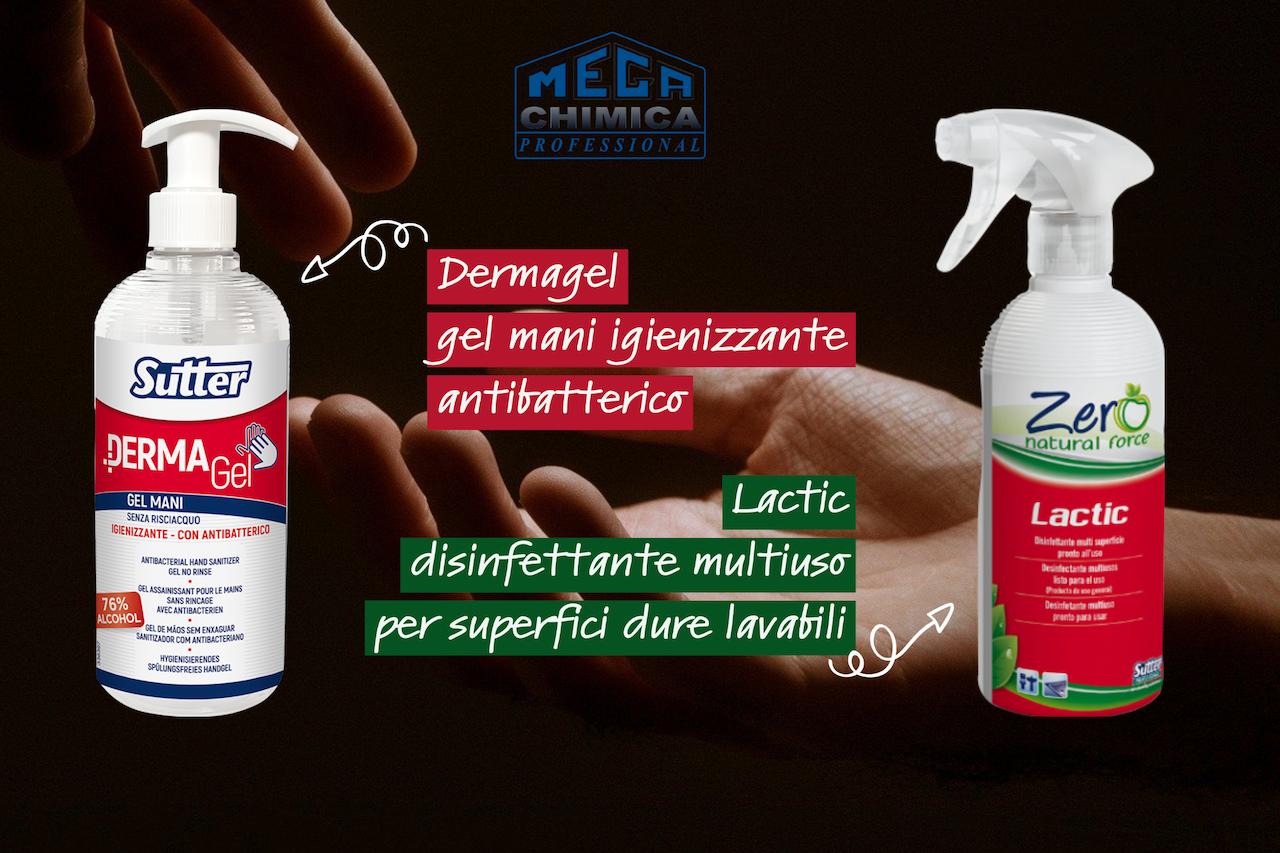 Dermagel: efficace igienizzante mani senza risciacquo da MEGA CHIMICA
