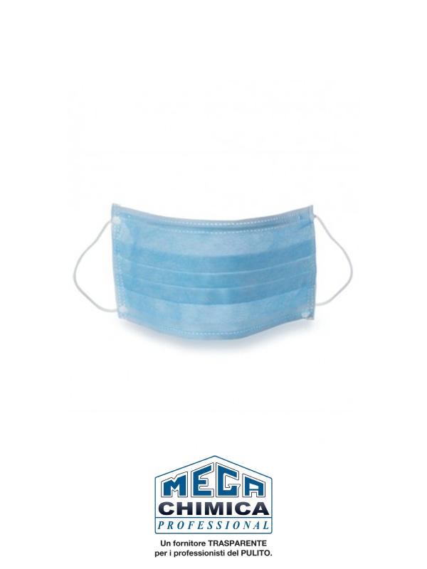 DPI Mascherina chirurgica azzurra